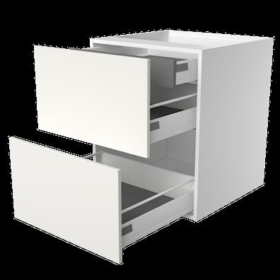 Lådskåp med 2 lådor med softstängning och utdragsback