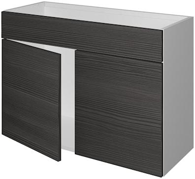 Håndvaskskap 33 cm dypt med 2 dører og blendstykke