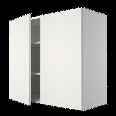 Overskap 79,9 cm bred med 2 hyller og 2 dører