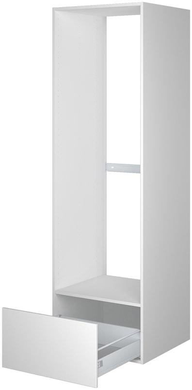 Høyskap 195,2 cm høyt til kjøleskap, åpning 161,6 x 56,7 cm