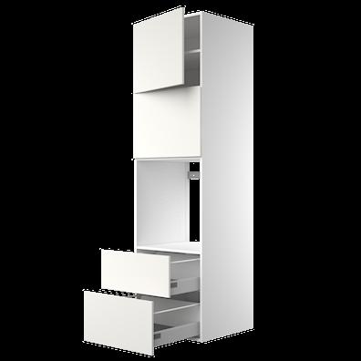 Høyskap 211,2 cm høyt til innbygging av ovn/mikrobølgeovn med smart dør