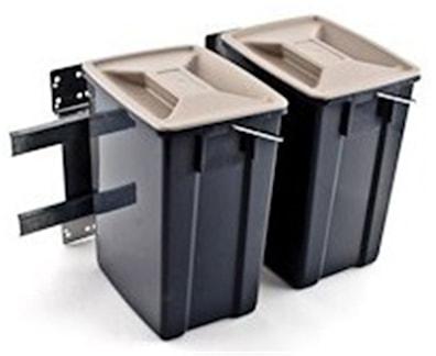 Søppelsortering til montering på side