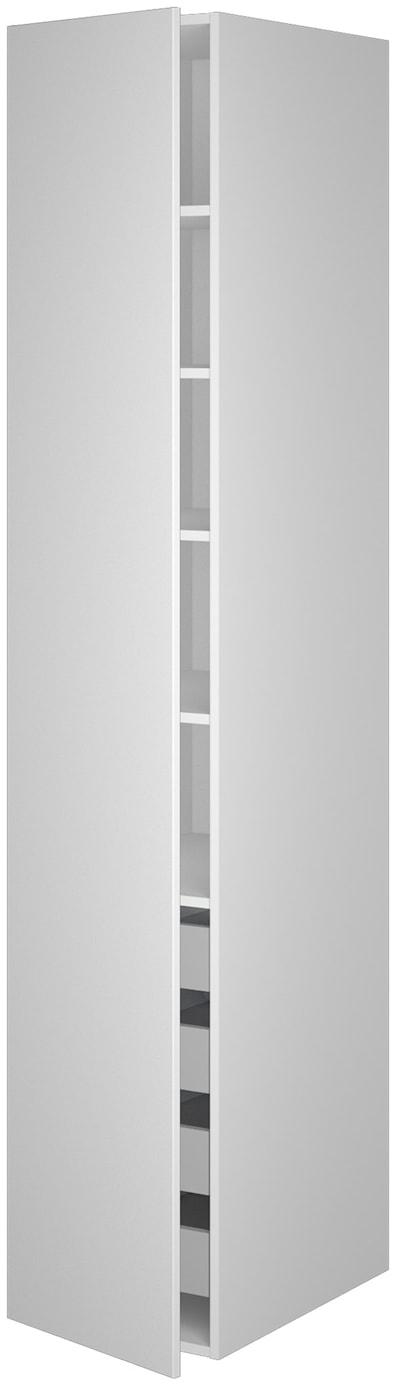 Garderobeskap 211,2 cm høyt med 4 uttrekkskurver og 5 hyller