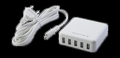 USB-ladesett med 2 meter ledning
