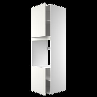 Høyskap 195,2 cm høyt til ovn med 2 dører og 4 hyller