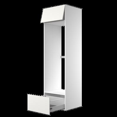 Høyskap 211,2 cm høyt til frittstående kjøl/frys, åpning: 147,2 x 56,7 cm