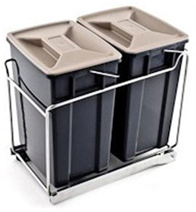 Søppelsortering til montering i bunn