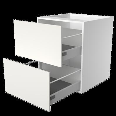 Lådskåp med 2 lådor med softstängning